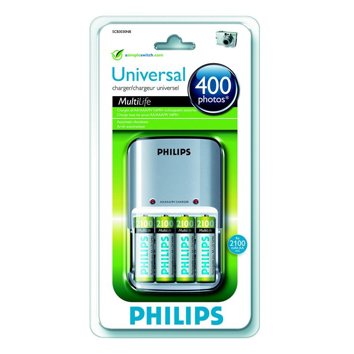 Philips MultiLife SCB3030 + 4x2100 mAh (4/392)