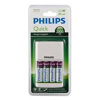 Philips Quick Charger [SCB2491WB/12] + 4AA RTUx2000 mAh with micro USB port (4/648)